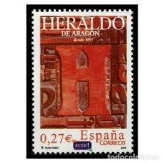 Sellos: ESPAÑA 2004. EDIFIL 4115. DIARIOS CENTENARIOS, EL HERALDO DE ARAGÓN. NUEVO** MNH. Lote 194926302