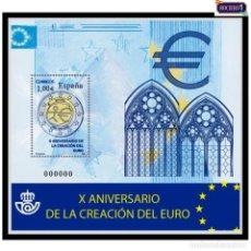 Sellos: ESPAÑA 2009. EDIFIL 4496. X ANIVERSARIO CREACIÓN DEL EURO. NUEVO** MNH. Lote 194966015