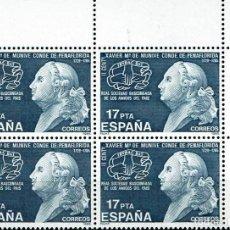 Sellos: ESPAÑA 1985 - EDIFIL 2824 (**) EN BLOQUE DE 4. Lote 194985153