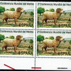 Sellos: ESPAÑA 1986 - EDIFIL 2839 (**) EN BLOQUE DE 4. Lote 194991361