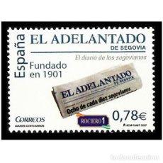 Sellos: ESPAÑA 2007. EDIFIL 4352. DIARIOS CENTENARIOS, EL ADELANTADO DE SEGOVIA. NUEVO** MNH. Lote 195025227