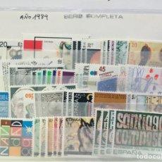 Sellos: SELLOS NUEVOS ESPAÑA AÑO 1989 COMPLETO CON HOJITAS Y CARNÉ. Lote 206826218