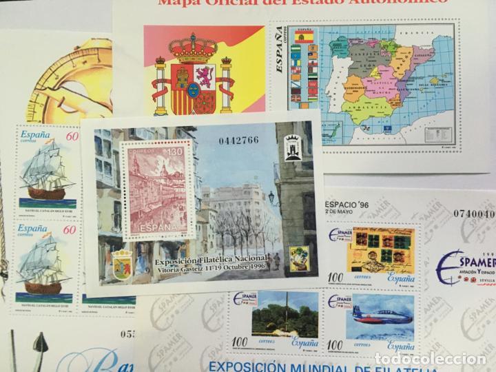 Sellos: Sellos Nuevos España Año 1996 completo con hojitas - Foto 2 - 206826577