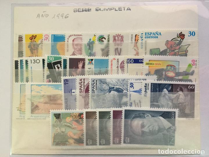 SELLOS NUEVOS ESPAÑA AÑO 1996 COMPLETO CON HOJITAS (Sellos - España - Juan Carlos I - Desde 1.986 a 1.999 - Nuevos)