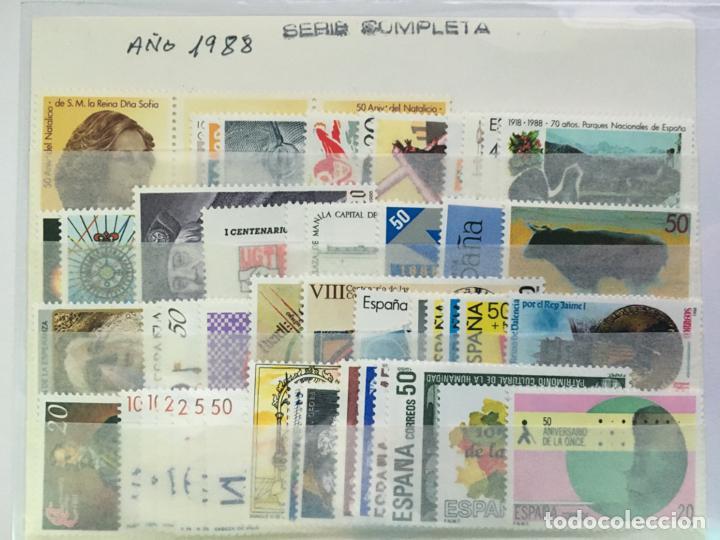 SELLOS NUEVOS ESPAÑA AÑO 1988 COMPLETO CON HOJITAS Y CARNÉ (Sellos - España - Juan Carlos I - Desde 1.986 a 1.999 - Nuevos)