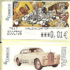 Sellos: 4 TMS CON LA IMPRESIÓN DEL PESO , NUEVAS Y EN €UROS . Lote 195053916