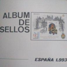 Sellos: SELLOS NUEVOS ESPAÑA AÑO 1993 COMPLETO + POSTALES + AEROGRAMAS (SIN FIJA SELLOS). Lote 195061107