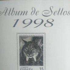Sellos: SELLOS NUEVOS ESPAÑA AÑO 1998 COMPLETO + POSTALES + AEROGRAMAS (SIN FIJA SELLOS). Lote 195101795