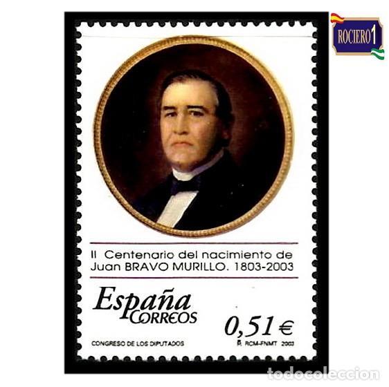 ESPAÑA 2003. EDIFIL 3994. NACIMIENTO JUAN BRAVO MURILLO. NUEVO** MNH (Sellos - España - Juan Carlos I - Desde 2.000 - Nuevos)