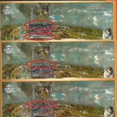 Sellos: CENTENARIO DEL FALLECIMIENTO DE EL GRECO - 3 HOJAS - VARIEDAD. Lote 195185761