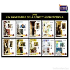 Sellos: ESPAÑA 2003. EDIFIL 4037-46 3746. CONSTITUCIÓN ESPAÑOLA. NUEVO** MNH. Lote 195198152