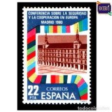 Sellos: ESPAÑA 1980. EDIFIL 2592. SEGURIDAD Y COOPERACIÓN EN EUROPA. NUEVO** MNH. Lote 195217593
