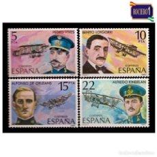 Sellos: ESPAÑA 1980. EDIFIL 2595-98 2598. PIONEROS DE LA AVIACIÓN. NUEVO** MNH. Lote 195218481