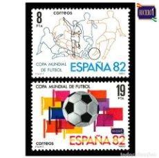 Sellos: ESPAÑA 1980. EDIFIL 2570/71 2571. CAMPEONATO MUNDIAL DE FÚTBOL ESPAÑA 82. NUEVO** MNH. Lote 195220201