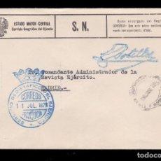 Sellos: *** CARTA A MADRID 1978. RARA FRANQUICIA DEL SERVICIO GEOGRÁFICO DEL EJERCITO (AZUL) ***. Lote 195235242