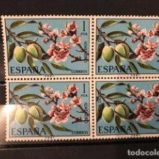 Sellos: SELLOS ESPAÑA EDIFIL 2254 AÑO 975 MNH** FLORA ALMENDRO BLOQUE DE 4. Lote 195283671