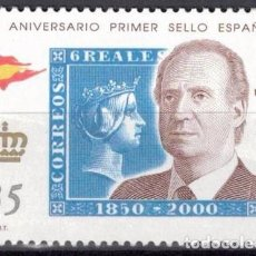 Sellos: ESPAÑA 2000 -EDIFIL.3690 - 150 ANIV. PRIMER SELLOS ESPAÑOL. Lote 195311497