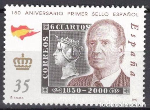ESPAÑA 2000 -EDIFIL.3688 - 150 ANIV. PRIMER SELLOS ESPAÑOL (Sellos - España - Juan Carlos I - Desde 2.000 - Nuevos)