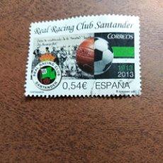 Sellos: SELLO CENTENARIOS REAL RACING CLUB SANTANDER ESPAÑA. Lote 195339091