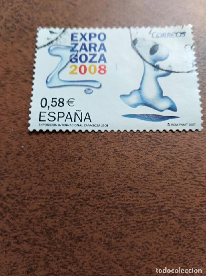 SELLO EXPO ZARAGOZA 2008 ESPAÑA (Sellos - España - Juan Carlos I - Desde 2.000 - Usados)