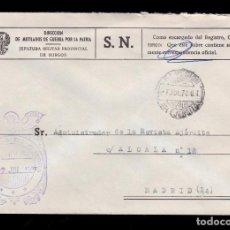 Sellos: *** CARTA MADRID 1978. RARA FRANQUICIA DE MUTILADOS DE GUERRA (BURGOS) ***. Lote 195368473