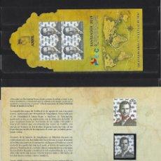 Sellos: CARNET PROMOCION FILATELIA 2019 SANTANDER FELIPE VI BUEN ESTADO. Lote 195370241