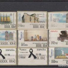 Sellos: ATM LOTE DE 9 ETIQUETAS DE AJUSTE ATMS.DISTINTAS . Lote 195420321
