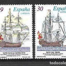 Francobolli: BARCOS DE ÉPOCA. ESPAÑA. EMIT. 7-4-1995. Lote 195446000