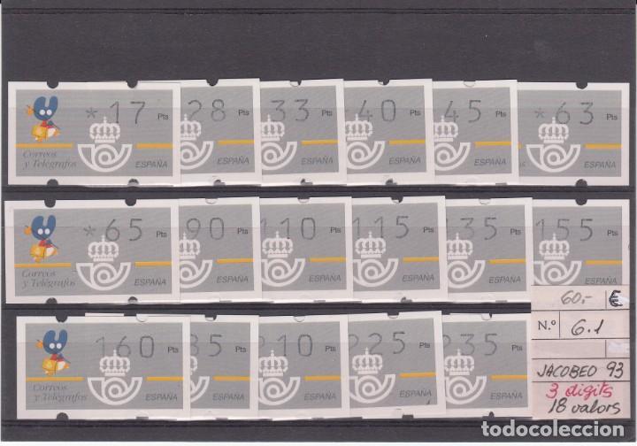 ATM- XACOBEO-JACOBEO 93 SERIE COMPLETA 3 DÍGITOS SIN NUM. AL DORSO (Sellos - España - Juan Carlos I - Desde 1.986 a 1.999 - Nuevos)
