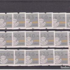 Sellos: ATM- XACOBEO-JACOBEO 93 SERIE COMPLETA 3 DÍGITOS SIN NUM. AL DORSO . Lote 195650750