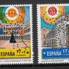 Sellos: SERIE COMPLETA MADRID CAPITAL EUROPEA CULTURA NUMS. 3228-31 ---PERFORADOS------. Lote 195651645