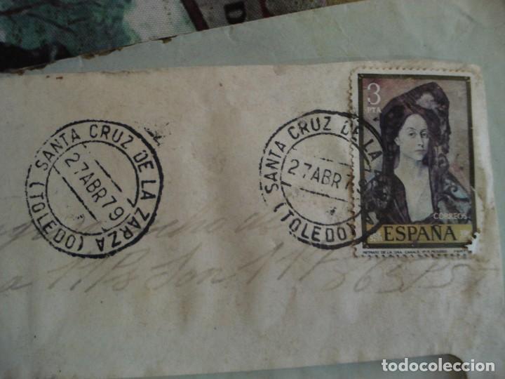 Sellos: SOBRE CON DOCUMENTACION BANCARIA MATASELLOS SANTA CRUZ DE LA ZARZA TOLEDO - Foto 2 - 195914193