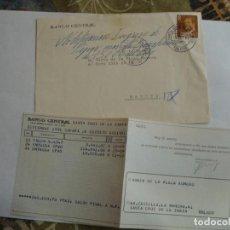 Sellos: SOBRE BANCO CENTRAL CON DOCUMENTACION MATASELLOS SANTA CRUZ DE LA ZARZA 1981. Lote 195914345
