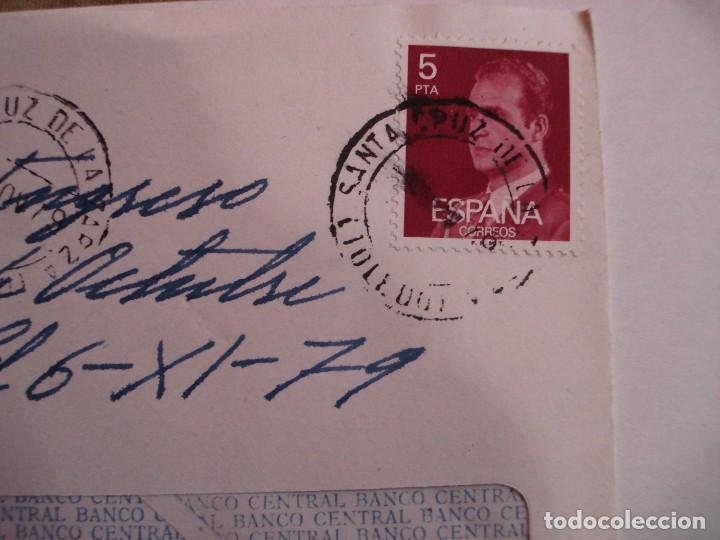 Sellos: SOBRE BANCO CENTRAL CON DOCUMENTACION BANCARIA MATASELLOS SANTA CRUZ DE LA ZARZA AÑOS 70 - Foto 2 - 195914542