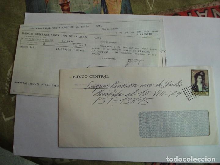 SOBRE BANCO CENTRAL CON DOCUMENTACION BANCARIA MATASELLOS ROMBO PUNTEADO (Sellos - España - Juan Carlos I - Desde 1.975 a 1.985 - Cartas)