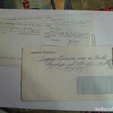 Sellos: SOBRE BANCO CENTRAL CON DOCUMENTACION BANCARIA MATASELLOS ROMBO PUNTEADO. Lote 195914753