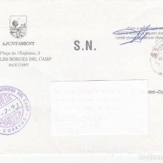 Sellos: SOBRE AJUNTAMENT DE LES BORGES DEL CAMP - TARRAGONA -CON FRANQUICIA. Lote 196053832