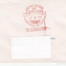 Sellos: SOBRE CON FRANQUICIA GENERALITAT DE CATALUNYA- DEPARTAMENT DE CULTURA. Lote 196054230