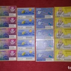 Sellos: CHOLLO!!! 6 TIRAS DE 5 ATMS DE AJUSTE EN PESETAS (30 ATMS). Lote 196263858