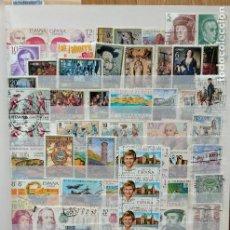 Sellos: LOTE. ÁLBUM CON MÁS DE 500 SELLOS DE ESPAÑA USADOS. VER FOTOGRAFÍAS. Lote 196269017