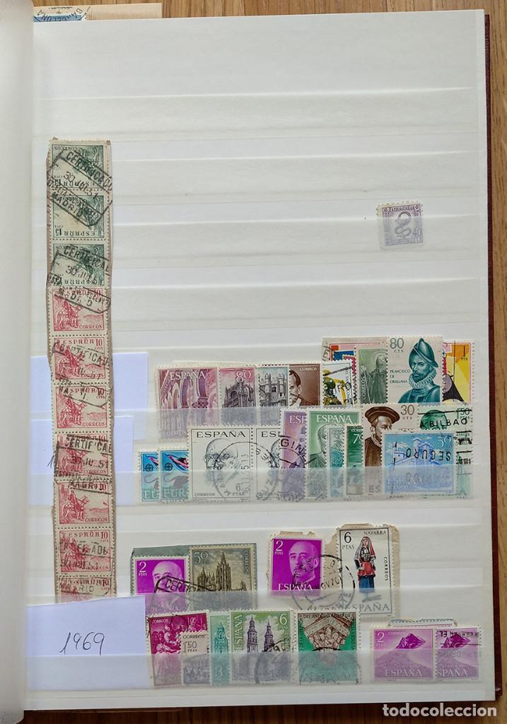 Sellos: Lote. Álbum con más de 500 sellos de España usados. VER FOTOGRAFÍAS - Foto 4 - 196269017