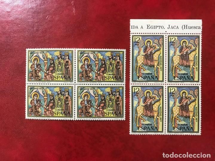 ESPAÑA 1977 EDIFIL 2446/7** MNH BLOQUE DE 4 (Sellos - España - Juan Carlos I - Desde 1.975 a 1.985 - Nuevos)