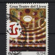 Sellos: TV_001/ ESPAÑA USADOS 2001, EDIFIL 3791, GRAN TEATRO DEL LICEO, BARCELONA. Lote 196401625