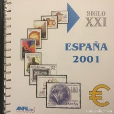 Sellos: 2001-ESPAÑA EDIFIL 3776/3856 SELLOS Y HB CON MATASELLO DE FAVOR Y PRIMER DÍA - MONTADO HOJAS ANFIL -. Lote 196537652