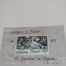 Sellos: 5 HOJAS BLOQUE CENTENARIO DE PICASSO, EL GUERNICA EN ESPAÑA 200 PTS. Lote 196739597
