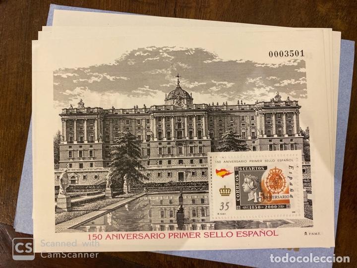 Sellos: ESTUCHE 150 ANIVERSARIO PRIMER SELLO ESPAÑOL. AÑO 2000. PRUEBA DE LUJO Nº 16 + 7 HOJITAS. VER FOTOS - Foto 8 - 196773916