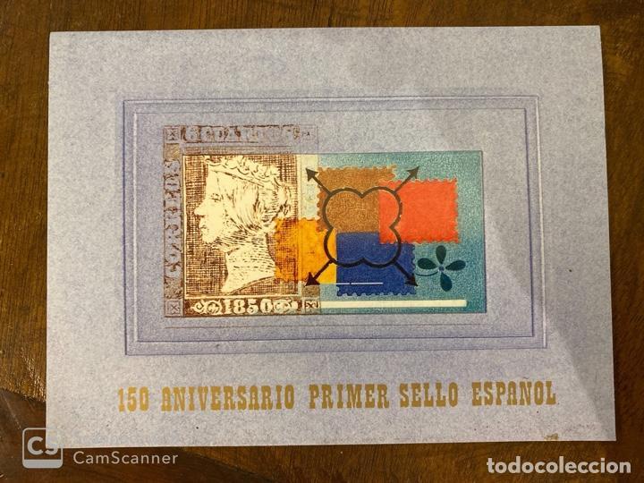ESTUCHE 150 ANIVERSARIO PRIMER SELLO ESPAÑOL. AÑO 2000. PRUEBA DE LUJO Nº 16 + 7 HOJITAS. VER FOTOS (Sellos - España - Juan Carlos I - Desde 2.000 - Nuevos)