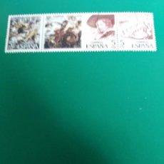 Sellos: TIRA DE 3 SELLOS SERIE CENTENARIOS RUBENS ESPAÑA. Lote 196956406