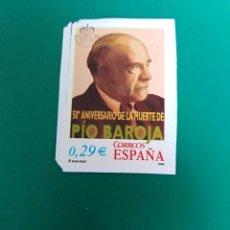Sellos: SELLO 50 ANIVERSARIO DE LA MUERTE DE PIO BAROJA ESPAÑA . Lote 196965788
