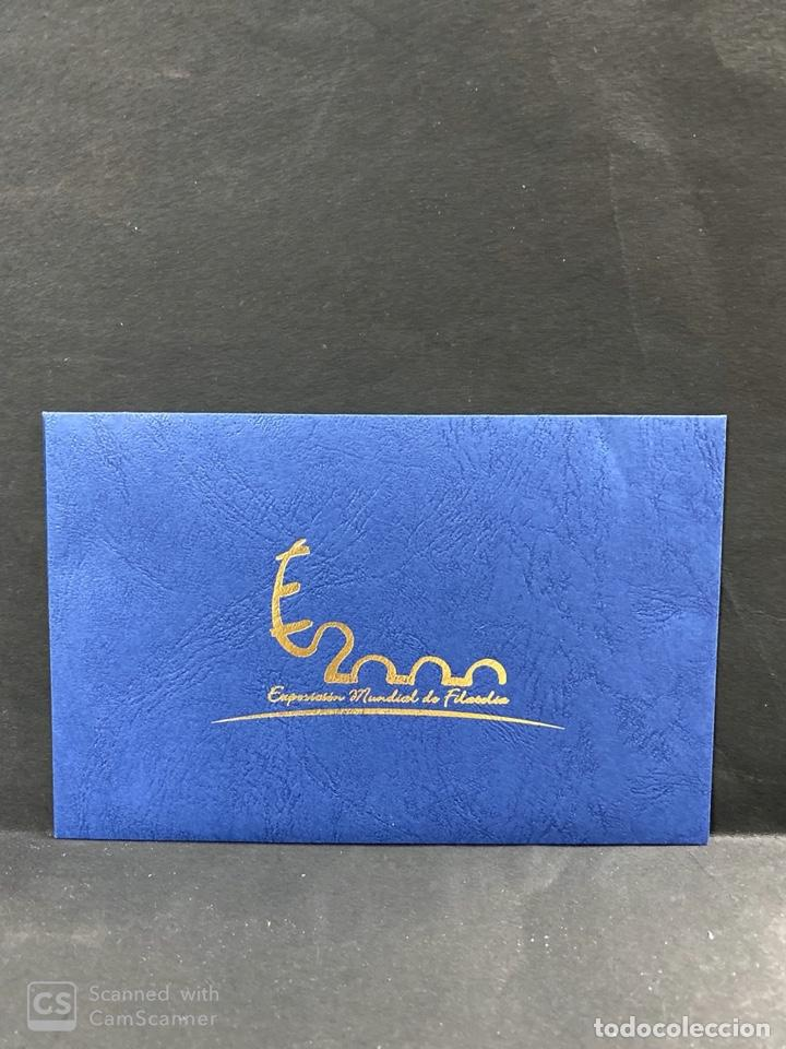 11 HOJAS BLOQUE SIN DENTAR ESPAÑA 2000. EXPOSICION MUNDIAL DE FILATELIA. CON ESTUCHE. VER FOTOS (Sellos - España - Juan Carlos I - Desde 2.000 - Nuevos)